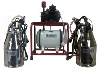Fiksna muzilica za krave - 2 kante, suva vakum pumpa
